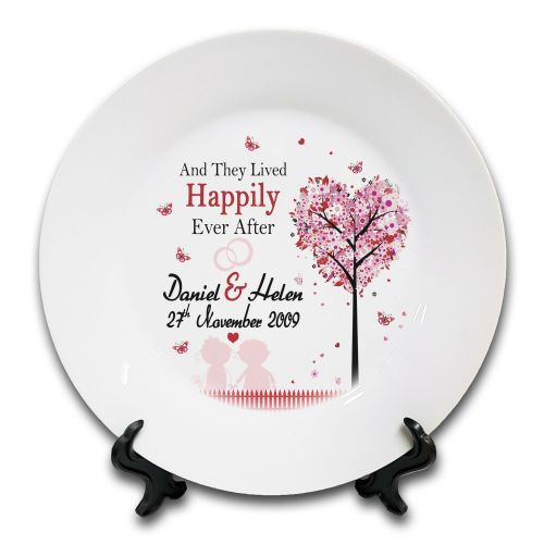 Personalised And They Lived Happily Every After... Novelty Ceramic Plate